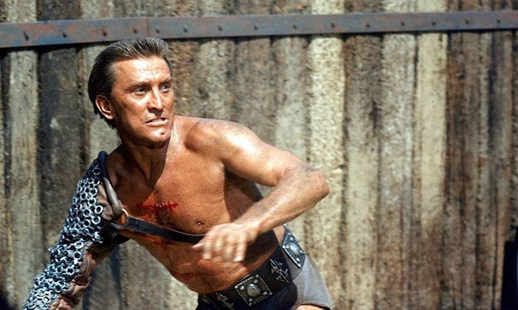Kirk Douglas no filme 'Spartacus' — Foto: Divulgação