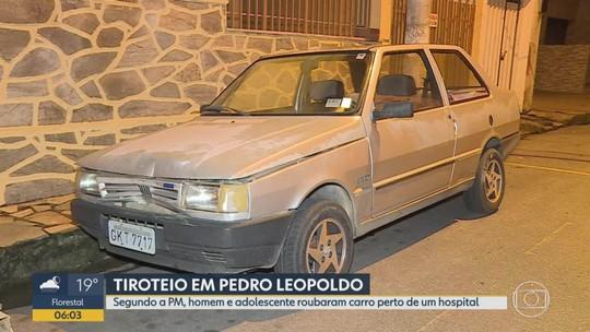 Suspeito de roubo de carro é baleado no rosto durante tiroteio com policiais em Pedro Leopoldo