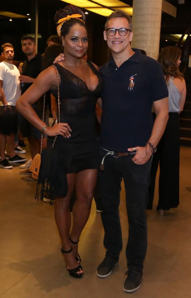Adriana Bombom e Adrien Cunha - Festa Funk no Vivo Rio, Rio de Janeiro, RJ. (30/04/18) Foto: Roberto Filho / Brazil News. (Foto: ROBERTO FILHO / BRAZIL NEWS)