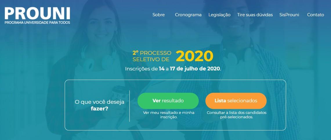 Prouni divulga o resultado da 2ª chamada do 2º semestre de 2020; veja como consultar