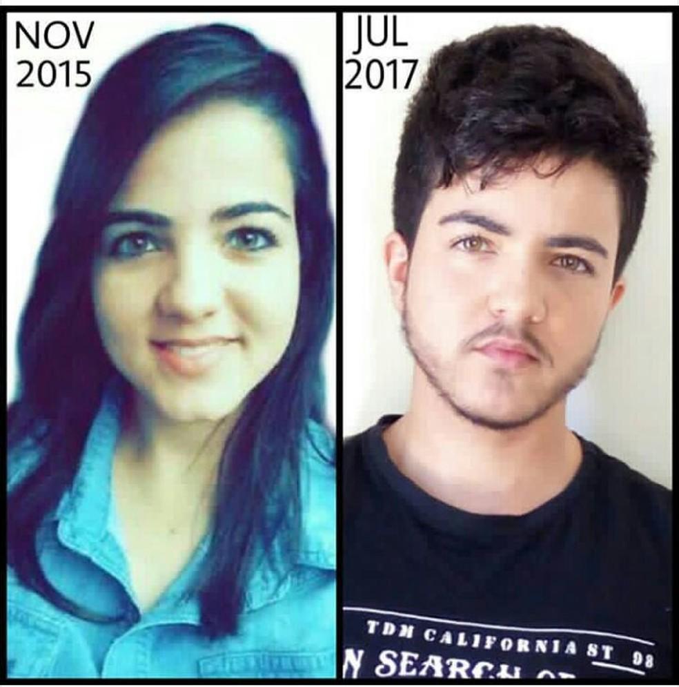 Jovem começou mudança de aparência há dois anos (Foto: Arquivo pessoal)