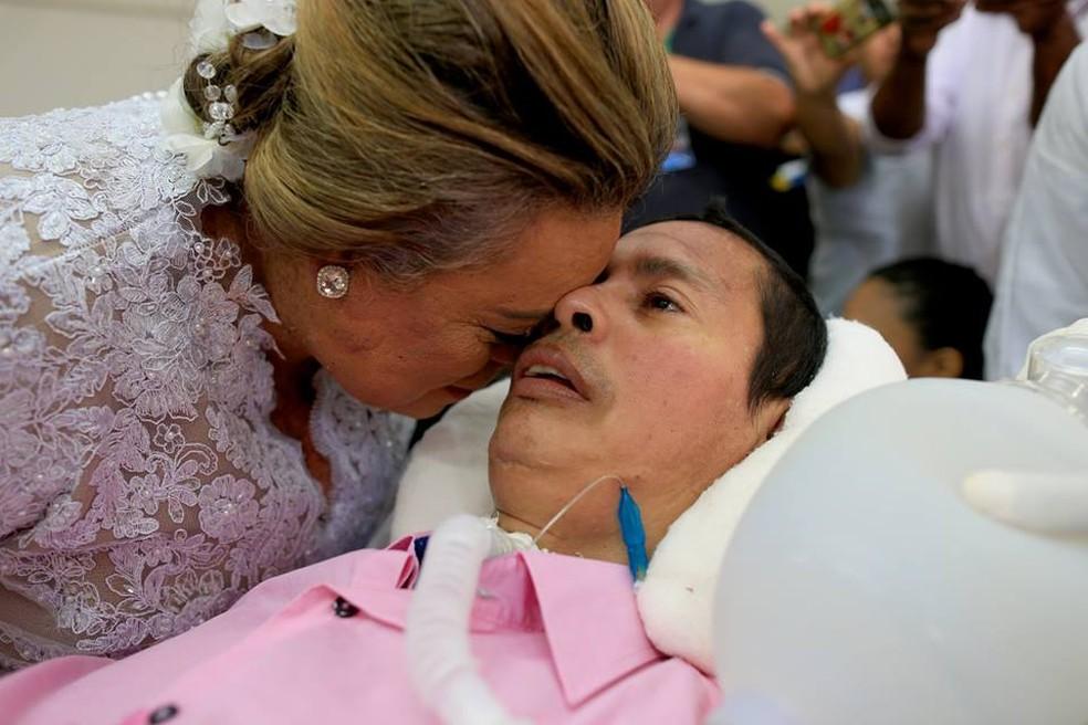 Nascimento respirava com ajuda de aparelhos (Foto: Beto Monteiro/Divulgação)