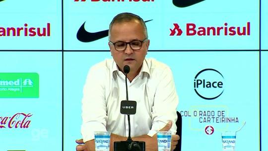 """Vice do Inter rechaça troca de data do Gre-Nal e alfineta: """"Esperneiem da maneira que quiserem"""""""