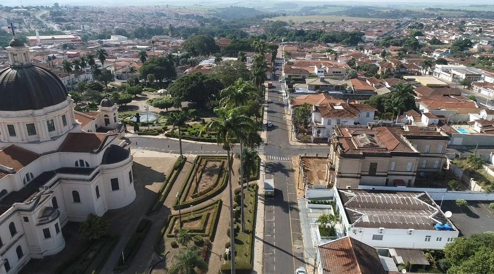 Vista aérea de Batatais, SP, escolhida para integrar novo projeto do Instituto Butantan — Foto: Marcelo Moraes/EPTV