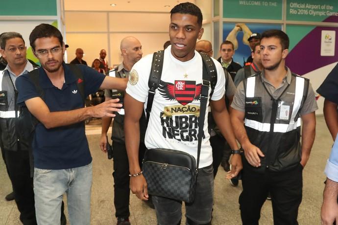 Orlando Berrío será apresentado nesta terça (Foto: Gilvan de Souza/Flamengo)
