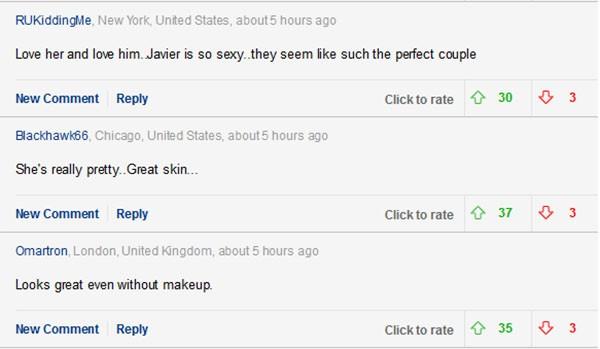Comentários sobre a foto de Penélope Cruz (Foto: Daily Mail)