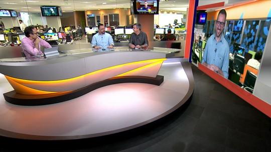 """Redação SporTV debate troca de farpas entre Peres e Sampaoli no Santos: """"Não tem mocinho"""""""