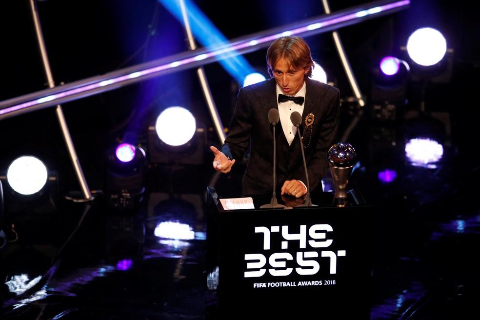 Modric é eleito o melhor jogador do mundo no Fifa The Best — Foto: Reuters