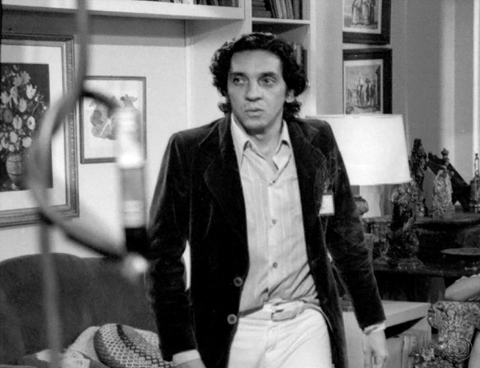 Domingos Oliveira em 'Aplauso: Queridos Fantásticos Sábados', de 1979 — Foto: Studium/Globo