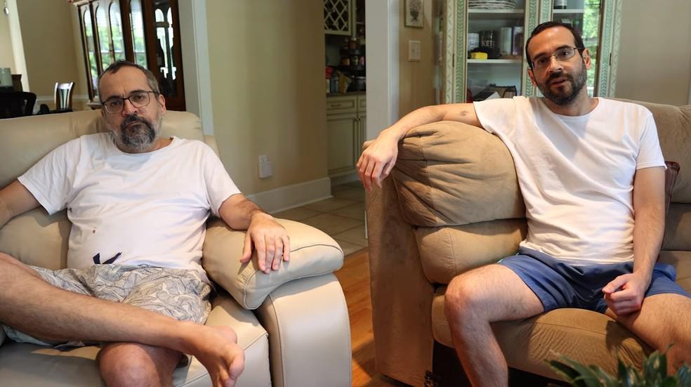 O ex-ministro da Educação Abraham Weintraub e o seu irmão, o ex-assessor especial da Presidência Arthur Weintraub, anunciaram que contraíram casos graves da Covid-19 nos Estados Unidos — Foto: Reprodução