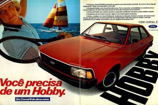 Ford Corcel Hobby antecipou a versão de mesmo nome do Escort (Foto: Divulgação)