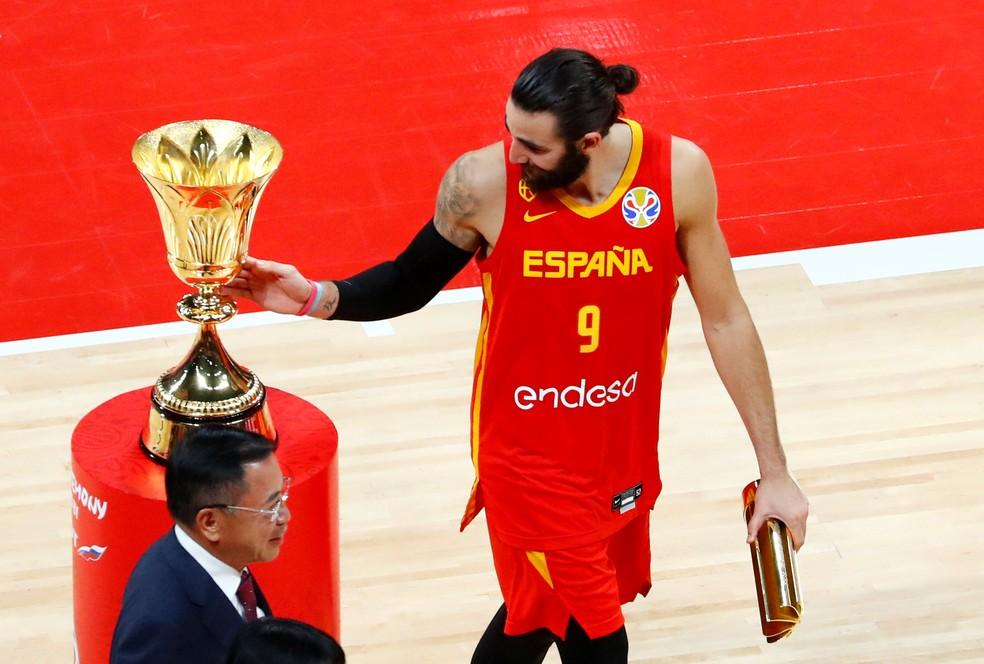 Ricky Rubio é eleito MVP da Copa do Mundo de basquete — Foto: Reuters