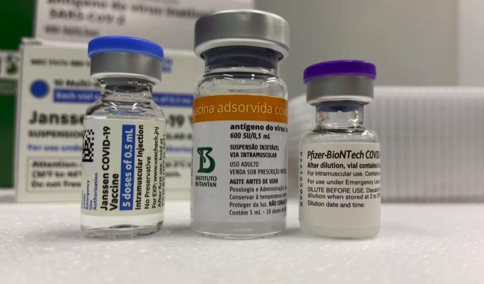 Vacinas contra a Covid-19 aplicadas no Brasil — Foto: Reprodução/RPC