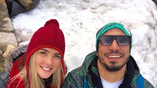 Aline e Fernando mostram álbum de viagem a trabalho em Bariloche