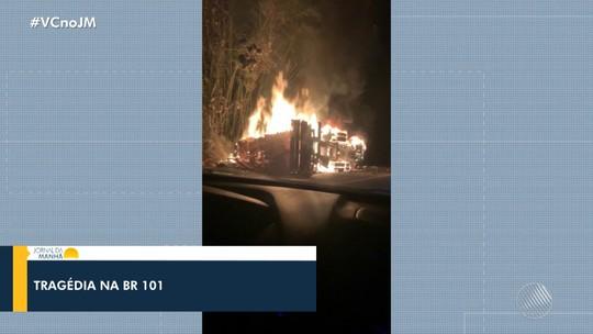Cinco morrem e 10 ficam feridos após batida entre ônibus e carreta no sul da BA