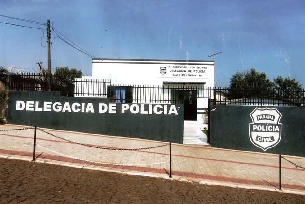 Delegacia de Salto do Lontra, no sudoeste do Paraná — Foto: Polícia Civil/Divulgação