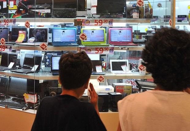consumo, eletrônicos, shopping, vitrine, confiança (Foto: Marcello Casal Jr./Agência Brasil)