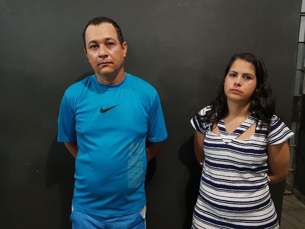 Élio e Natália dos Santos foram presos em flagrante na quinta-feira (7), no Bairro Pedregal, em Cuiabá (Foto: Polícia Civil de MT/Divulgação)