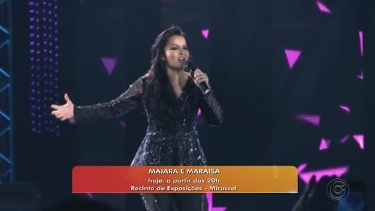 Maiara e Maraísa abrem shows do rodeio de Mirassol nesta sexta-feira