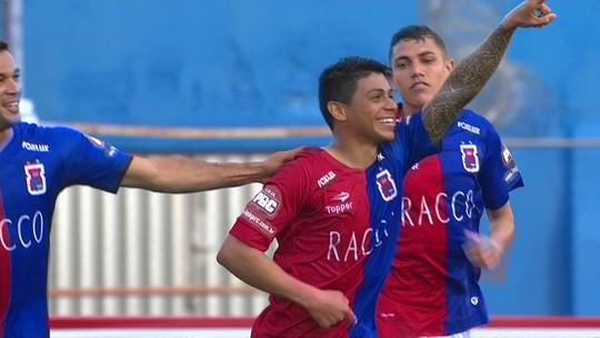 O gol de Paraná 1 x 0 ABC pela 20ª rodada do Brasileirão Série B