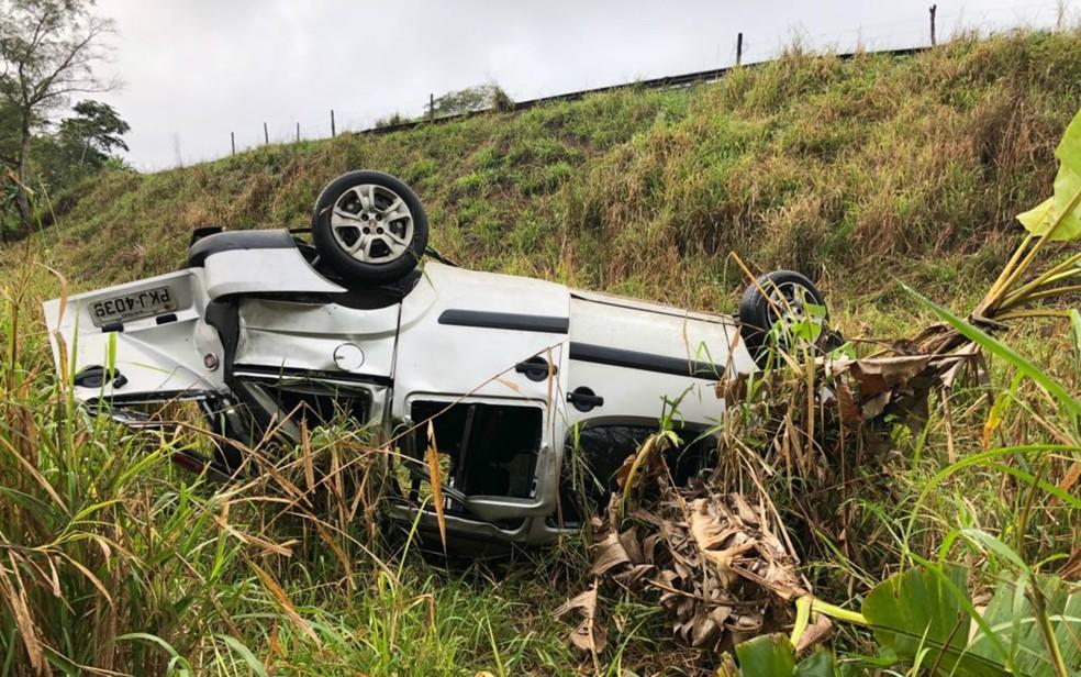 Acidente aconteceu na madrugada desta quinta-feira (13), na cidade de Itapebi — Foto: Divulgação / Secretaria de Saúde de Alcobaça