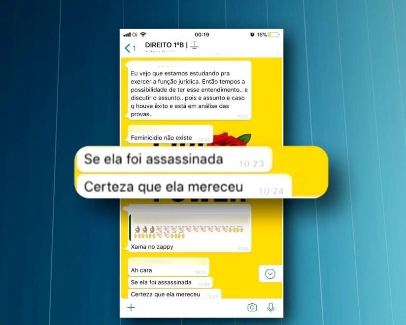 Grupo protesta contra mensagens machistas de alunos de direito sobre caso Tatiane Spitzner: 'Ela mereceu' - Radio Evangelho Gospel