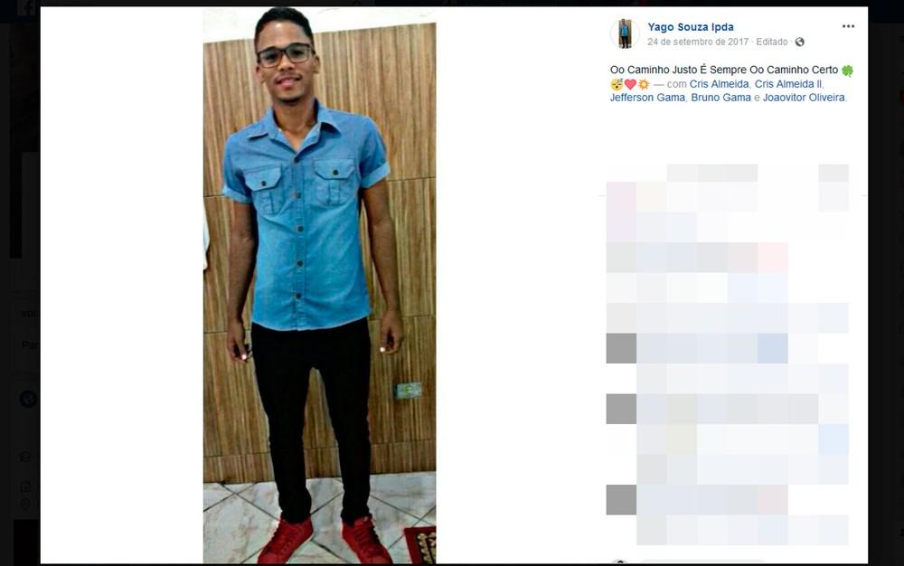 Jovem morreu após pular em rio para salvar cachorro na Bahia (Foto: Reprodução/Facebook)