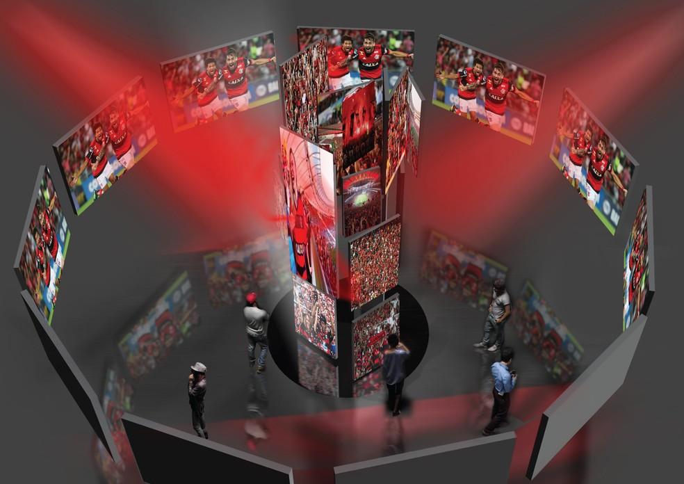 Visão de cima do projeto do Fla Memória (Foto: Divulgação)