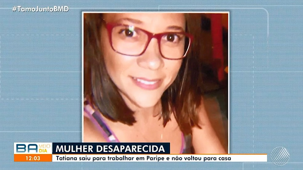 Tatiane Gomes Silva sumiu depois que saiu de casa para o trabalho — Foto: Reprodução/TV Bahia