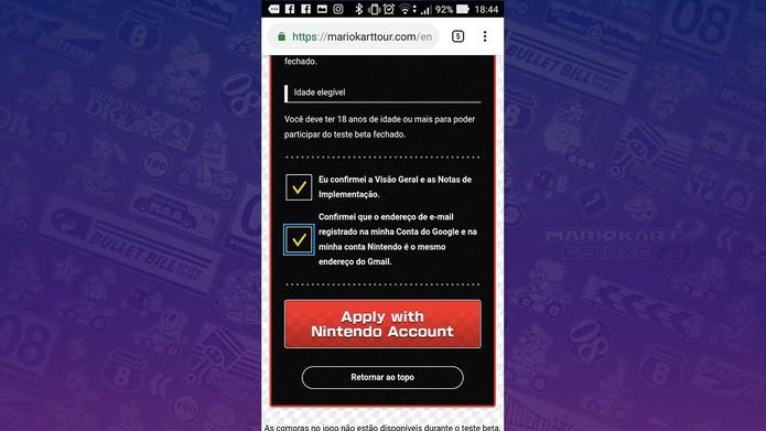 Como participar do beta de Mario Kart Tour para celulares