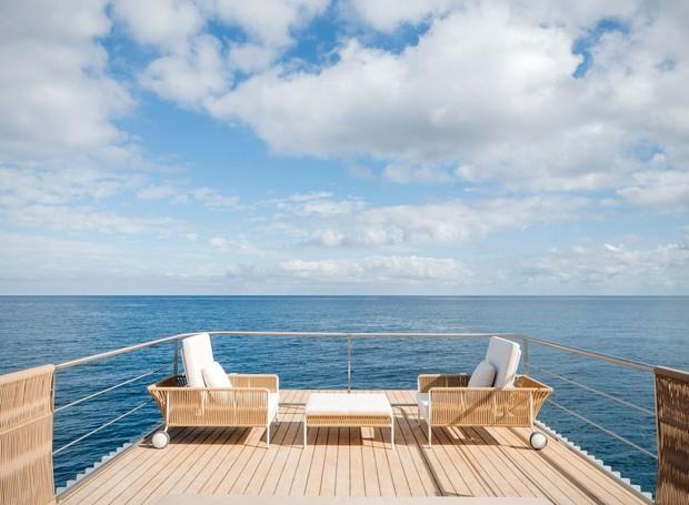 O segundo andar da casa flutuante, com 34 m², é um deck de chill-out, projetado para relaxamento. (Foto: Divulgação/Mano de Santo)