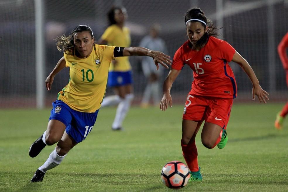 Marta está em nono na lista dos atletas mais dominantes do mundo (Foto: Federação Chilena de Futebol)