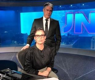William Bonner e Renata Renata Vasconcellos no 'Jornal Nacional' | Globo