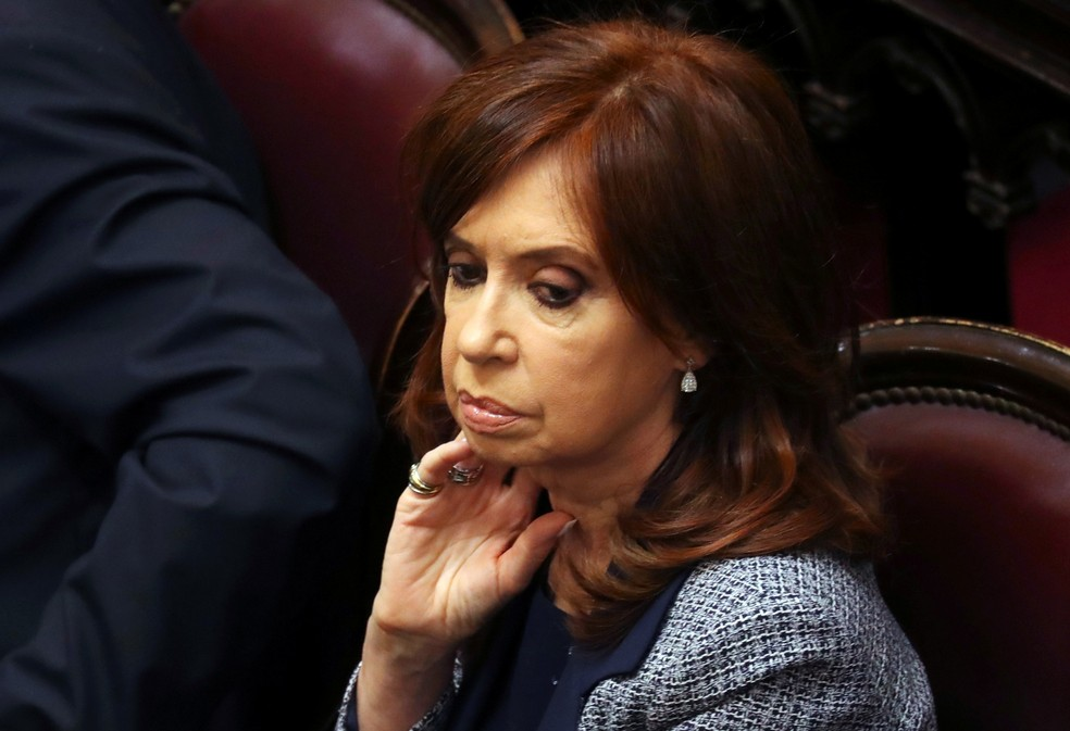 A ex-presidente Cristina Kirchner, hoje senadora na Argentina — Foto: REUTERS/Marcos Brindicci