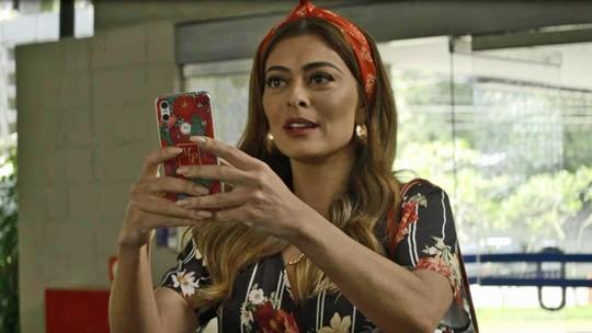 Maria da Paz chega aos Estúdios Globo para participar do 'Best Cake'