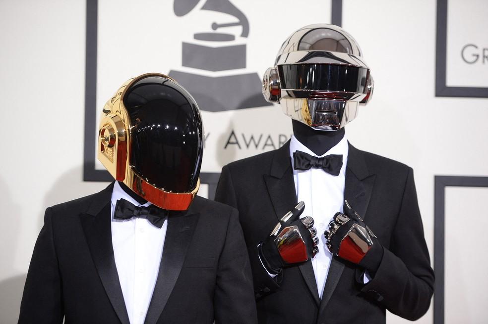 Daft Punk, em foto de janeiro de 2014 — Foto: Robyn Beck/AFP/Arquivo