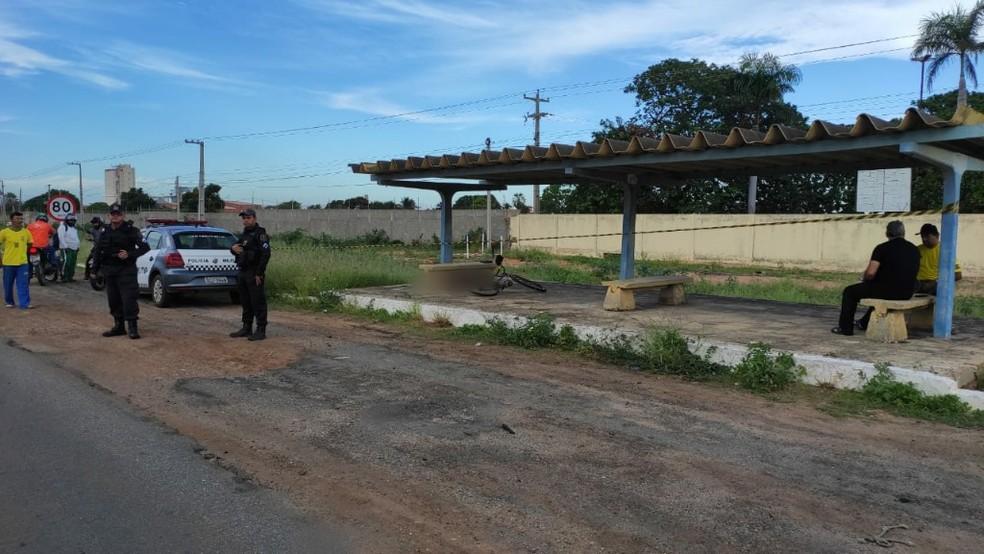 Parada fica próxima a uma antiga fábrica de cerâmica — Foto: Isaiana Santos/Inter TV Costa Branca
