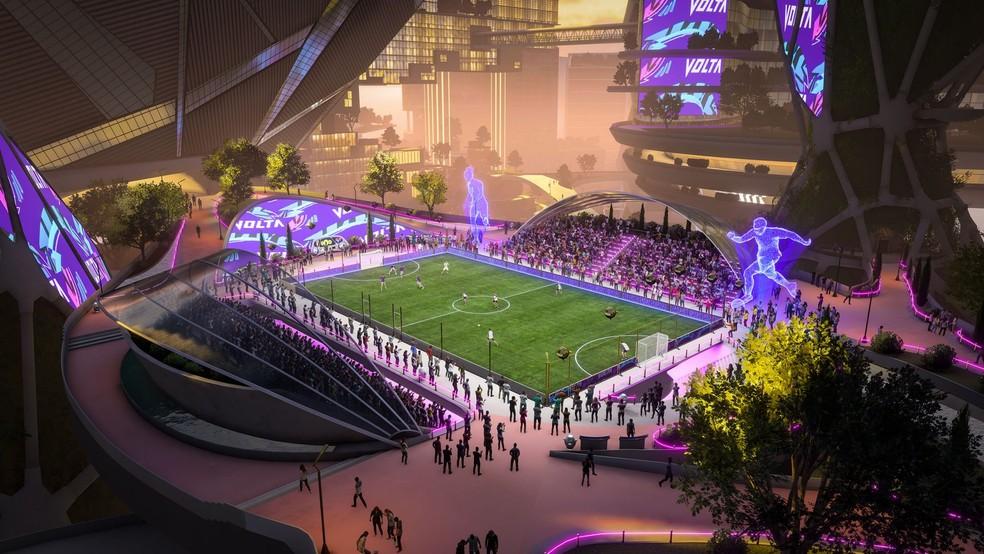 Futebol Volta contará com novas opões de personalização das arenas — Foto: Divulgação/FIFA 22
