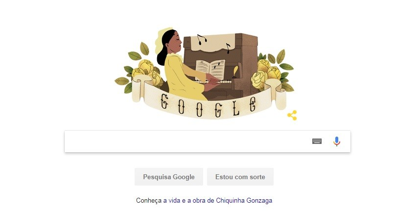 Chiquinha Gonzaga é homenageada por doodle do Google