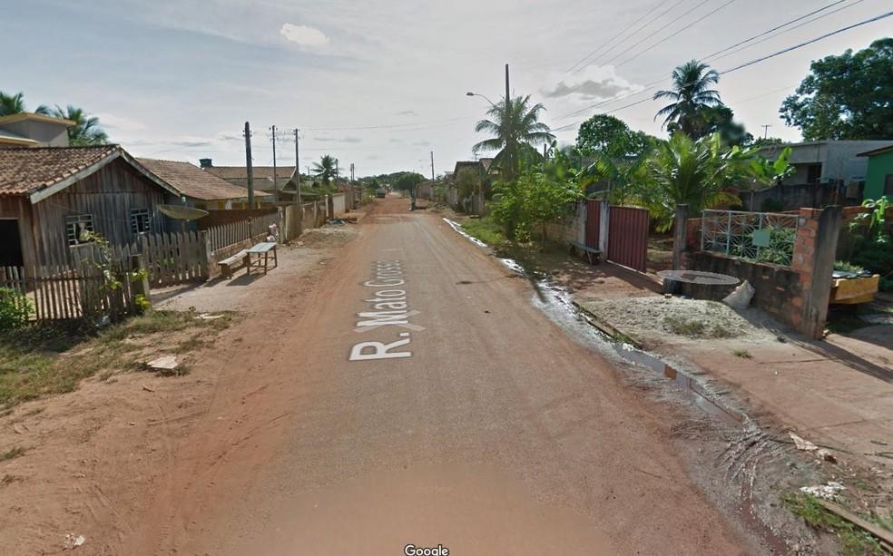 Crime ocorreu na Rua Mato Grosso — Foto: Google Maps/Reprodução