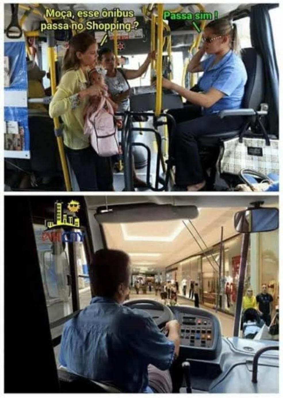 Internautas criaram memes sobre drive-thru no shopping de Botucatu — Foto: Arquivo pessoal