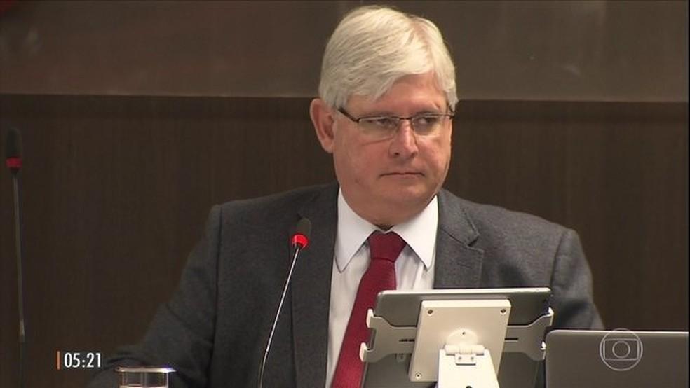 Rodrigo Janot participou de evento com procuradores da República sul-americanos. (Foto: Reprodução/TV Globo)