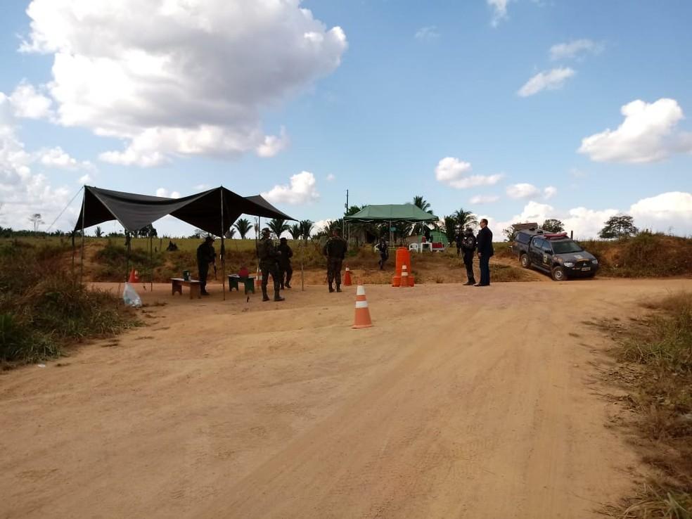 Operação Fronteira Mais Segura é realizada em Nova Mamoré e na Ponta do Abunã em RO — Foto: Sesdec/Divulgação