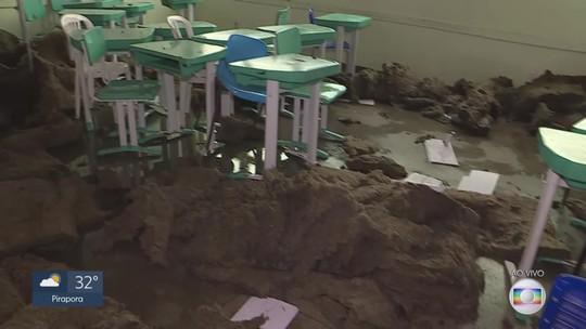 Mais de 2 mil alunos estão sem aulas em Mariana após chuva de granizo