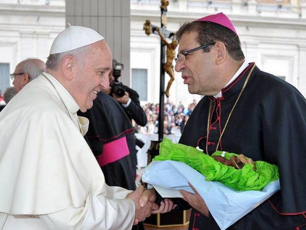 Bispo diocesano de Limeira (SP), dom Vilson Dias de Oliveira, renunciou ao cargo após denúncias de extorsão — Foto: Vaticano/Divulgação