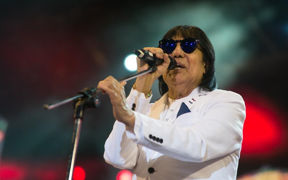 Marciano não conteve as lágrimas na Arena da Festa do Peão de Barretos — Foto: Érico Andrade/G1
