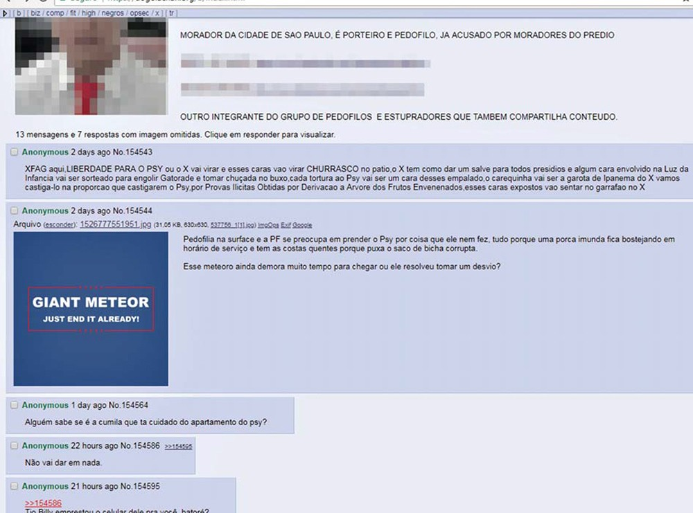 Reprodução de fóruns de discussão da internet (Foto: Reprodução internet)