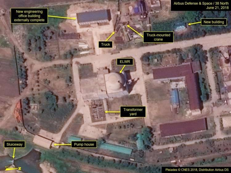 Planta nuclear da Coreia do Norte (Foto: Airbus Defence and Space)