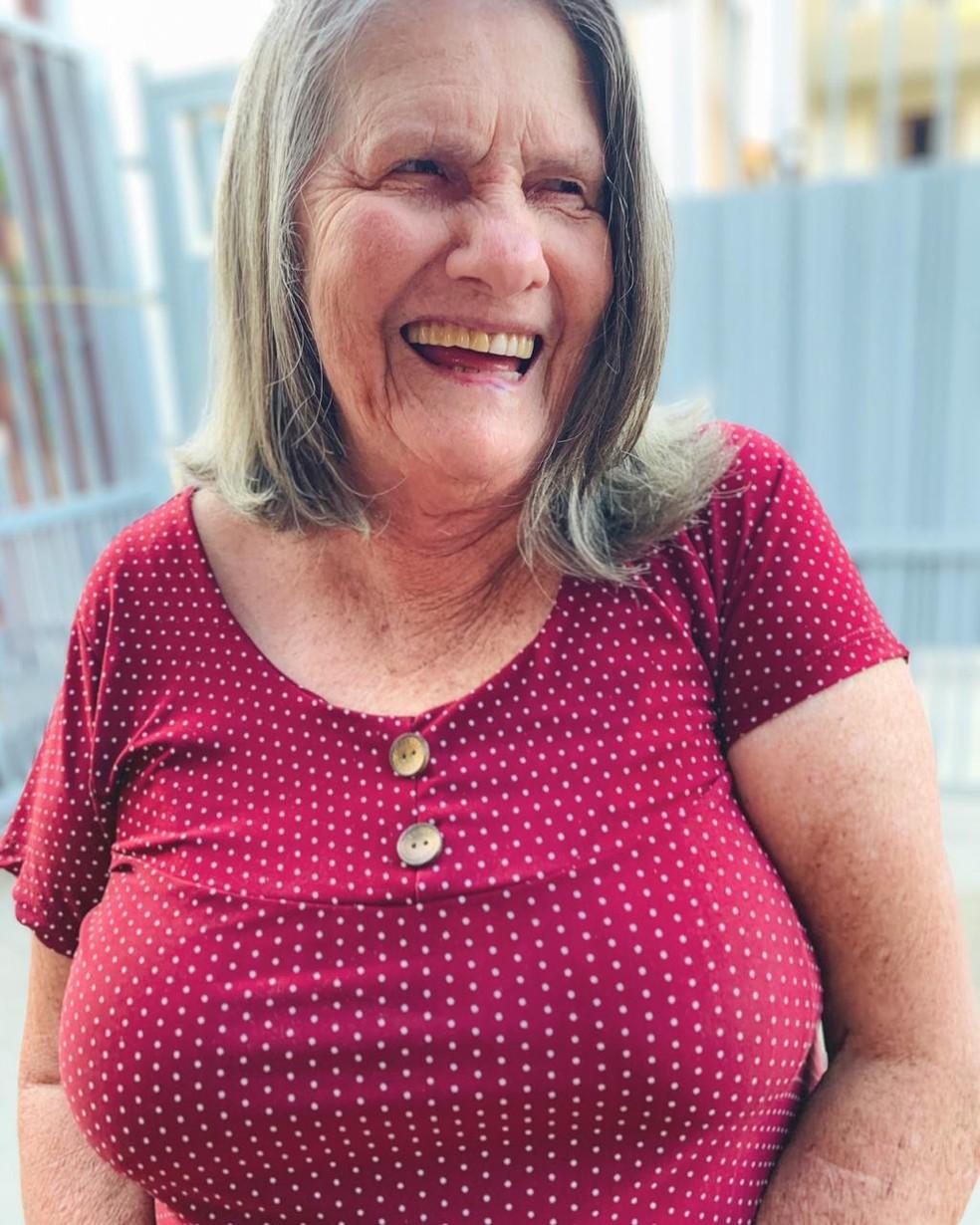Milta de Jesus Oliveira sofreu infarto após ser acusada de furtar chinelo em supermercado no DF — Foto: Arquivo pessoal