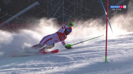 Favorito do esqui alpino, austríaco sofre queda e não completa prova em PyeongChang